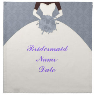 Vintage Classic Pretty Bridesmaid Napkin