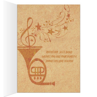 Vintage Classical Music French Horn Jazz Band Card