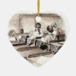 Vintage Classroom Art Teacher Student Christmas Tree Ornament