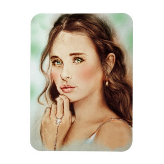 Vintage classy girl Photo Magnet - Lady of Spring