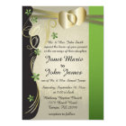 Vintage Classy Gold Heart with Peridot Flowers Card