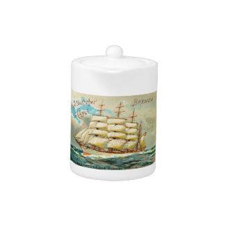 Vintage Clipper Ship Teapot
