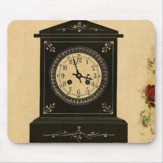 Vintage Clock Advertisement Mouse Pads