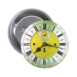 Vintage Clock Antique Pocket Watch Pin