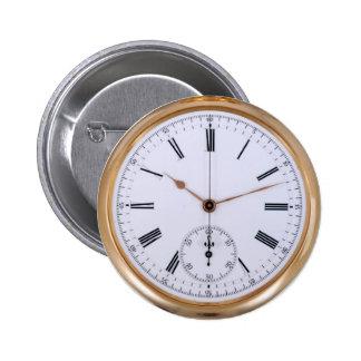 Vintage Clock Antique Pocket Watch Buttons