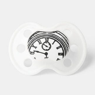 Vintage clock baby pacifiers