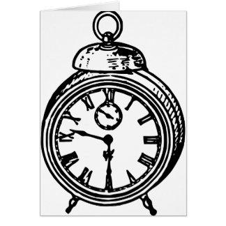 Vintage clock card