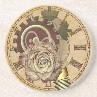 Vintage Clock Collage Coaster