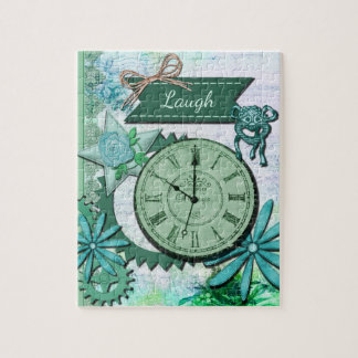 Vintage Clock Face and Gears Jigsaw Puzzles