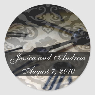 vintage clock, Jessica and AndrewAugust 7, 2010 Classic Round Sticker