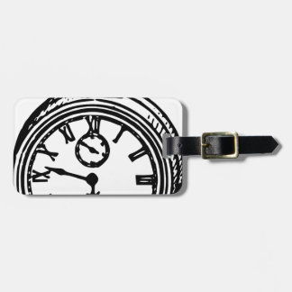 Vintage clock luggage tag