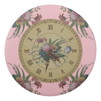 Vintage Clock with Flowers Eraser