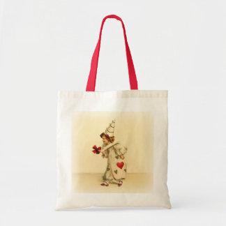 Vintage Clown Valentine's Day Budget Tote Bag