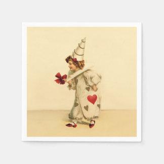 Vintage Clown Valentine's Day Napkin