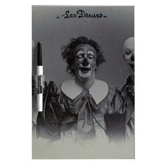 Vintage Clowns Dry Erase White Board