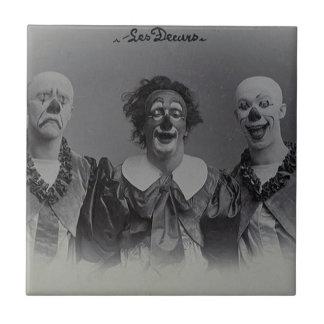 Vintage Clowns Tile