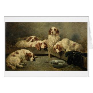 Vintage - Clumber Spaniels & a Mouse, Card