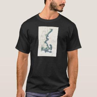 Vintage Coast of New England Cape Cod Map T-Shirt