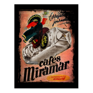 Vintage Coffee Ad for Miramar Postcard