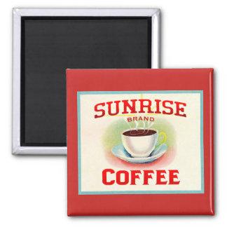 Vintage Coffee Label Kitchen Refrigerator Magnet
