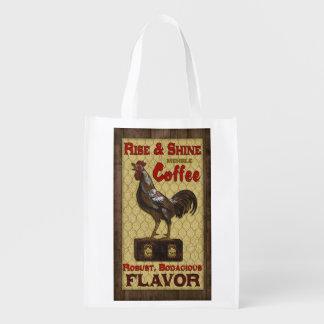 Vintage Coffee Label, Mehrle brand, grocery bag