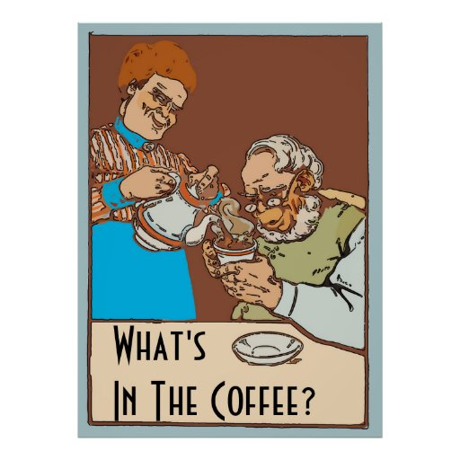 Vintage Coffee Poster, change text Poster