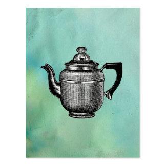 Vintage Coffee Pot Pop Art Postcard