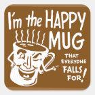 Vintage Coffee Retro Kitsch I'm the Happy Mug Square Sticker