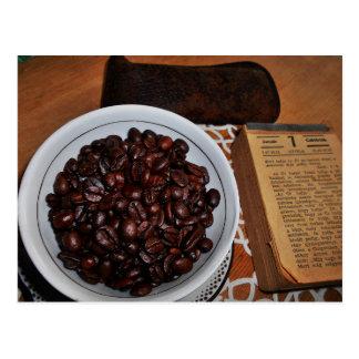 Vintage Coffee Still Life Postcard