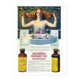 Vintage Coles Phillips art nouveau shampooing ad Postcard