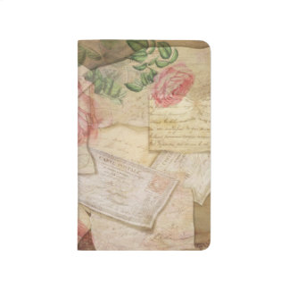 Vintage Collage, French Letters and Post Cards Journals