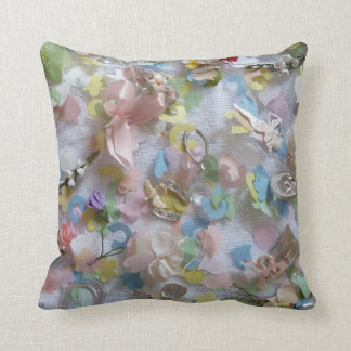 Vintage Collage Throw Pillow