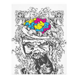 vintage color brains letterhead