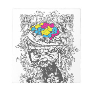 vintage color brains notepad
