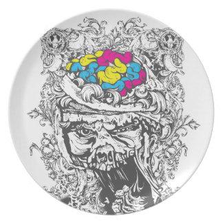 vintage color brains plate