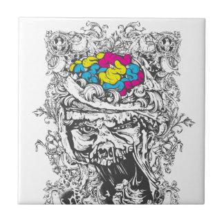 vintage color brains tile