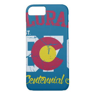 Vintage Colorado State Flag Centennial State Case-Mate iPhone Case