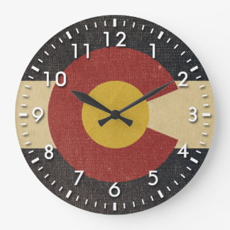 Vintage Colorado State Flag Large Clock