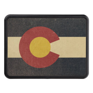 Vintage Colorado State Flag Tow Hitch Covers