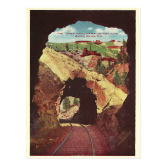 Vintage Colorado Train Tunnel Postcard