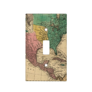 Vintage Colorful America Map Light Switch Cover