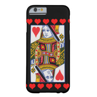 Vintage Colorful Ornate Queen With Hearts Barely There iPhone 6 Case