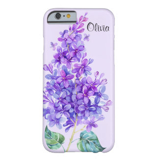 Vintage Colorful Purple Lilac Floral iPhone 6 Case Barely There iPhone 6 Case