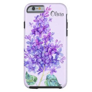 Vintage Colorful Purple Lilac Tough iPhone 6 Case