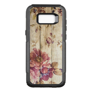 Vintage Colorful Romantic Roses on Wood OtterBox Commuter Samsung Galaxy S8+ Case