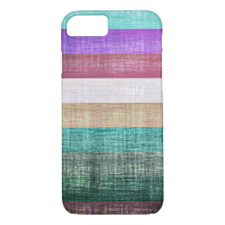 Vintage Colorful Stripes Pattern iPhone 7 Case
