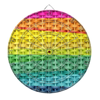Vintage colorful wicker art graphic design dartboards