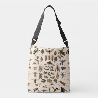 Vintage Colourful Insects Entomology Taxonomy Crossbody Bag