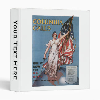 Vintage Columbia Calls Army Recruiting Binder