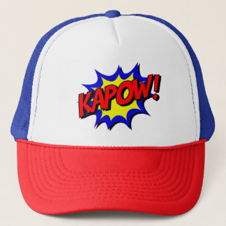 Vintage Comic Book Kapow Onomatopoeia Trucker Hat